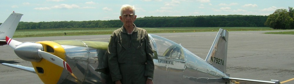 Arnold Ebneter and the E-1 after his record setting flight